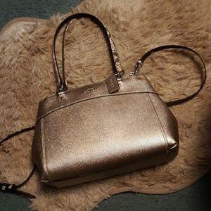 Coach rose gold purse